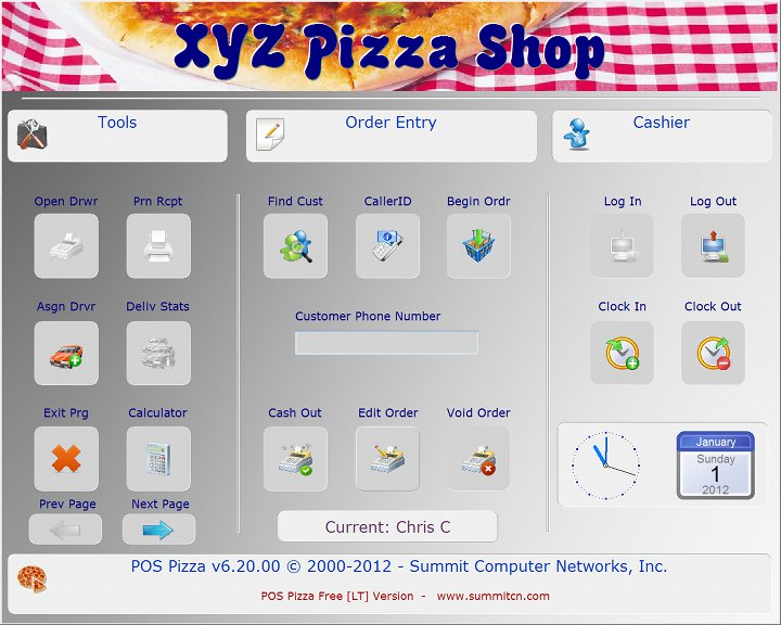 Click to view POS Pizza 6.20 screenshot